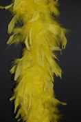 65 Gramme Chandelle Feather Boa - YELLOW 2 Yards