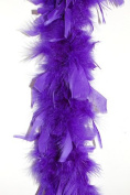 65 Gramme Chandelle Feather Boa - PURPLE 2 Yards