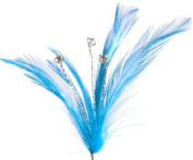 Blue Feather Crystal Accent - 3 pieces per pk