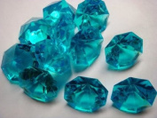 Turquoise 25 Carat Acrylic Diamonds - 36 Acrylic Gems - Big Bling