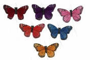 Artificial Feather Butterflies 7.6cm 24 Pieces New