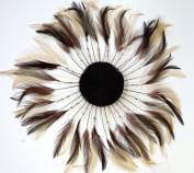 3 Pcs Full Pinwheels - BROWN/BEIGE MIX