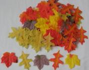 Mini Fall Maple Leaves Autumn Weddings, Invitation Leaves, Fall Table Accent, 90 Count