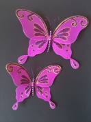 Glittered Butterfly Deco