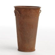 Minature Rusted Mini French Flower Buckets for Weddings, Crafting and Decorating- Package of 6