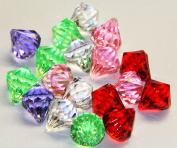 2lb of 20 Carat Mixed Colours Acrylic Diamonds - Big Diamonds Big Bling