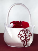 Scroll Flower Basket, Red