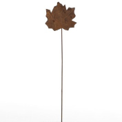 Package of 12 Unique Rusted Fall Maple Leaf Picks for Using for Table Numbers, Floral Arranging, Crafting and Autumn Decorations