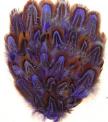 6 Pcs Dyed Pheasant Pads - PURPLE Feathers