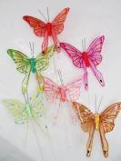 Swallowtail Butterflies with Glitter Per 12