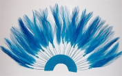 6 Pcs Half Pinwheels - TURQUOISE