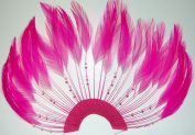 6 Pcs Half Pinwheels - HOT PINK