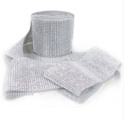 Diamond Mesh Silver 11cm X 10 Yards