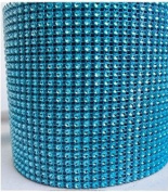 Diamond Mesh Turquoise 11cm X 10 Yards