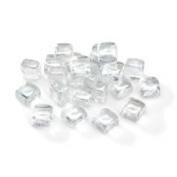 2.5cm Mini Glass Lustre Ice Cubes - 75 Pieces