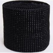 Diamond Mesh Black 11cm X 10 Yards