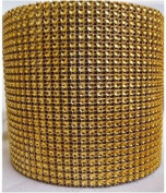 Diamond Mesh Gold 11cm X 10 Yards