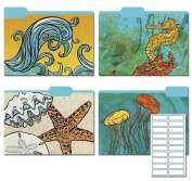 Karen Foster Design Decorative File Folders Ocean Escapade, 8 Folders