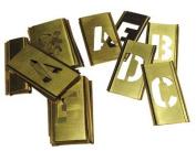 Brass Stencil Letter Sets - 6.4cm 33 pcs set gothic style lette