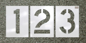 CH Hanson 70352 10cm x 2.75z' HWY font 12 pc. Number LDPE Reuseable Stencil Kit