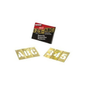 Brass Stencil Letter & Number Sets - 1.3cm 92pc. brass stencilset letters & n