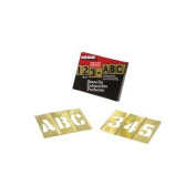 Brass Stencil Letter & Number Sets - 2.5cm - 1.3cm 92pc letter and number set stencil
