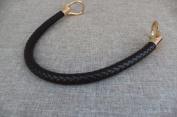 Dark Coffee 13mm Width DIY Handbag Accessories Braided Pu Leather Purse Handles Handbag Straps Detachable Bunckles Length 23.6 Inches