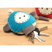 Red Creative Cute Doll Handmade Cloth Strange Pull-keychain / Key Holder Pull-out Pocket Keychain Wallets 1psc