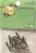 Dritz Bag Boutique Purse Handle Loops 1.3cm Silver 3bx