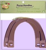Dritz Bag Boutique Purse Handle - Plastic U-Shape Gold Metallic 15cm