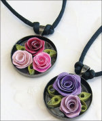 Quilled Creations Romantic Rose Necklace Quilling Kit