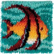 Wonderart Latch Hook Kit 30cm x 30cm -Angel Fish