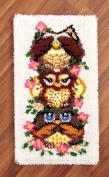 Stacked Owls Rug Latch Hook Kit