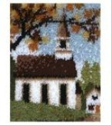 Latch Hook Kit Country Church 38cm x 50cm