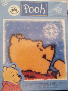 Disney 2000 Welcomes Pooh - Pooh's Snowflake Latch Hook Kit #Wp0013