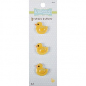 Babyville Boutique Buttons, Ducks, 3 Count