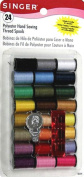 Singer Polyester Thread, Assorted Colours, 24 Spools