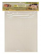 Wee Scapes Architectural Model Texture Sheets corrugated siding 19cm . x 30cm . pack of 2