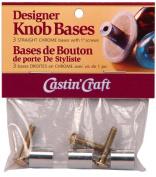 Environmental Technology Castin' Craft Knob Bases, Straight Chrome