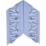 Evertrue Grecian leaf Primed Polyurethane Inside OR outside Corner Crown Moulding, 2 PC
