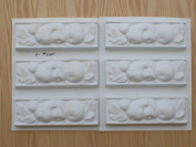 Set of six 2.5x8 Fruit Runner, Wall Tile Trim Moulds #0145-6