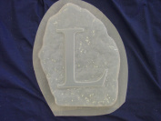 L Monogram Alphabet Letter Concrete Plaster Stepping Stone Mould 1206