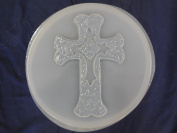Round Cross Concrete Plaster Stepping Stone Mould 1078