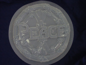 Round Peace Stepping Stone Concrete Plaster Mould 1016