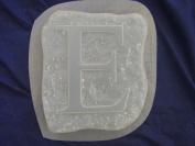 E Monogram Alphabet Letter Concrete Plaster Stepping Stone Mould 1223