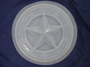 Round 30cm Star Border Stepping Stone Concrete Plaster Mould 1264