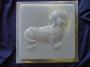 Dachshund Dog Stepping Stone Concrete Plaster Mould 1259