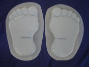 Footprints Bare Feet 28cm Stepping Stone Concrete Plaster Mould Set 1280