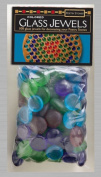 Poetry Stones Coloured Glass Jewels .13cm 100/pkg-assorted Colours