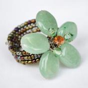 Aventurine Gem Stone Ring Free Size 100% Handmade by Flower GemStone